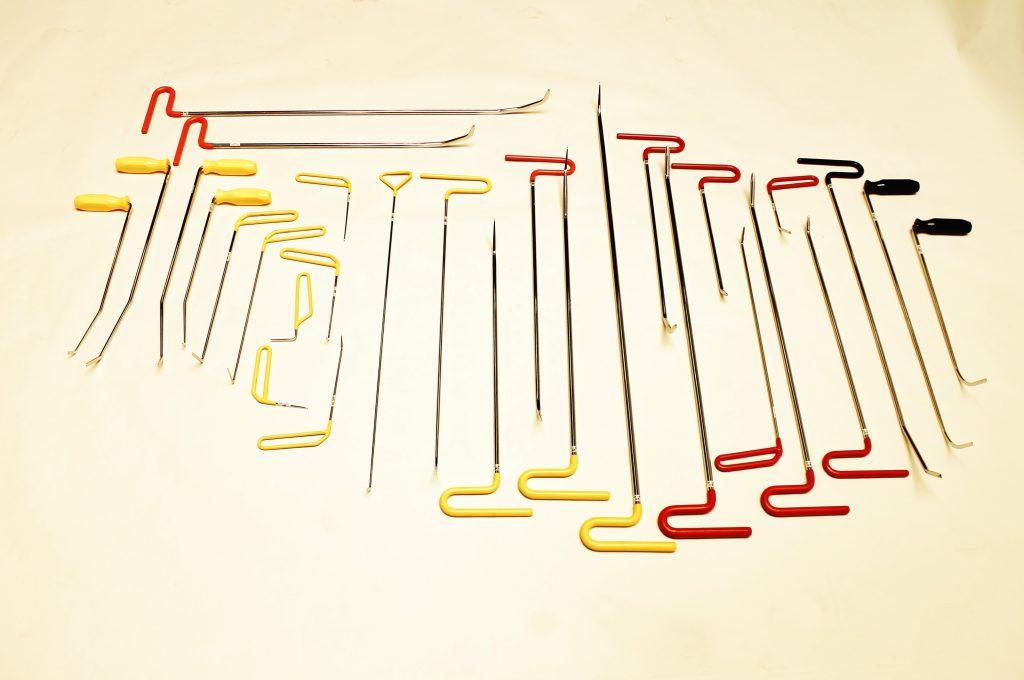 LJTJX PDR Tools Herramientas///de reparaci/ón de autom/óviles para Auto Body Dent Kit de reparaci/ón sin Pintura abolladura de Coche Puerta Dings Removal Rod Hooks Pump Wedges Tool